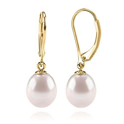 64fbcd164 Buy PAVOI Handpicked AAA+ Quality Freshwater Cultured Pearl Earrings  Leverback Dangle Stud Pearl Earrings with Ubuy Kuwait. B07FG15JFY