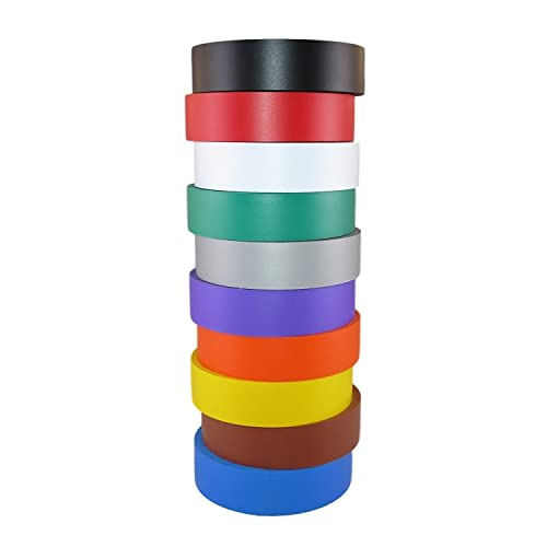 UL Listed 6 Colors 6 Pack Electrical Insulation Tape Maveek 0.67inch x 29.5ft Multicolor PVC Waterproof Flame Retardant Strong Rubber Based Adhesive Gaffer Tapes