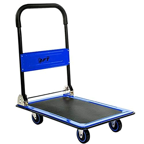 BHUS-KT-2041A sogesfurniture Heavy Duty 330 lbs Flatbed Cart Single Handle Capacity Folding Platform Cart Folding Foldable Moving Warehouse Rolling Flatbed Cart Hand Platform Truck Push Dolly