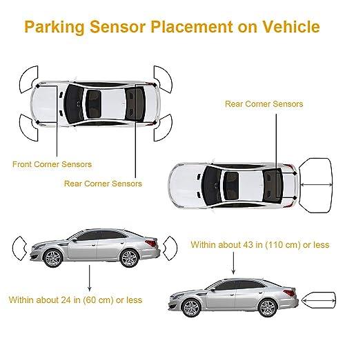 Issyzone 1Pc Backup Sensor for Ford F150 Expedition Explorer Escape Rear Parking Assist Sensor Reverse Sensor 3F2Z15K859BA 4F2315K859AA T36006