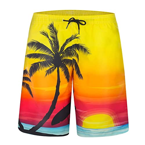 268833d4a5 Buy GetMine Mens Swim Trunks Quick Dry Suits Summer Holiday Beach Shorts  with Ubuy Kuwait. B07N3SK1SD