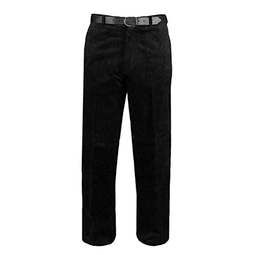 Mens Corduroy Trousers Smart Cord Trousers Waist 32 to 54 Inside Leg 29 Inches