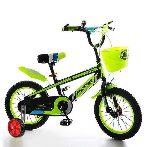 Heavy Duty Thickened Steel Kids Wheel Stabilisers Noiseless Rubber Wheel with Fittings for Childs Bike 12-20 inch Cocoarm Bike Stabilisers