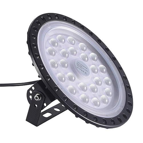 300W Industrial LED Pendant Ceiling Light Basement 6500K Daylight Commercial Chandelier for Garage Workshop Viugreum 27000LM UFO High Bay Light IP65 Hanging Floodlight Warehouse/…