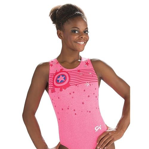7e915c22a5a9 Buy Marvel Captain America Leotard GK | Gymnastics & Dance | Star (Coral  Pink) with Ubuy Kuwait. B07BN6T7KM