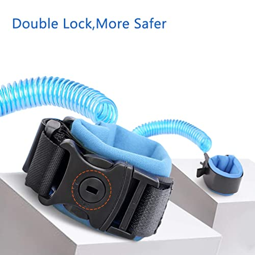 Easyinsmile Kids//Child Safety Leash Anti Lost Wrist Link Working Safety Harness for Toddlers Blue, 2.5 Meter