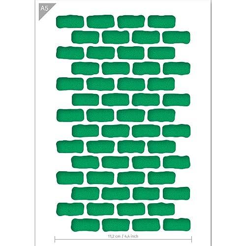 | Brilliant Blue Color Material Fading Brick Stone Pattern DIY Template-XL Stencil 20.5 x 23