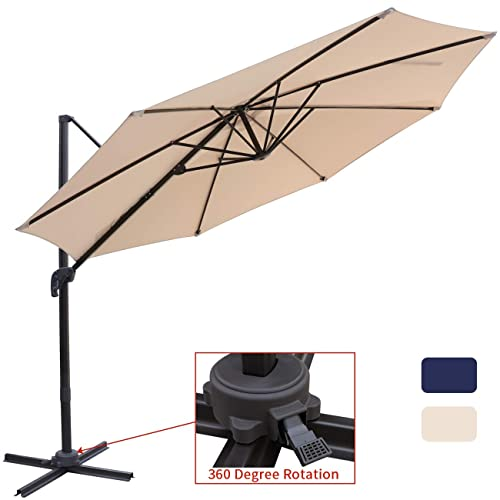 97d092c015f7 Buy Patio Offset Cantilever Umbrella 10-Feet Outdoor Patio Hanging ...