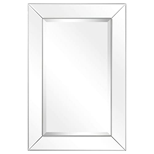 Buy Empire Art Direct Rectangle Modern Wall Mirror With Beveled Mirror Panels Frame Bathroom Bedroom Vanity Living Room 20 X 30 X 1 06 Ready To Hang Online In Kuwait B07p89tkpn