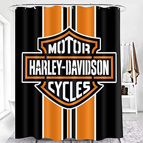 earvo harley motorcycle shower curtain harley davidson cycles bath curtain for fans lovers themed bathroom decor improvement 60x72 inches polyester