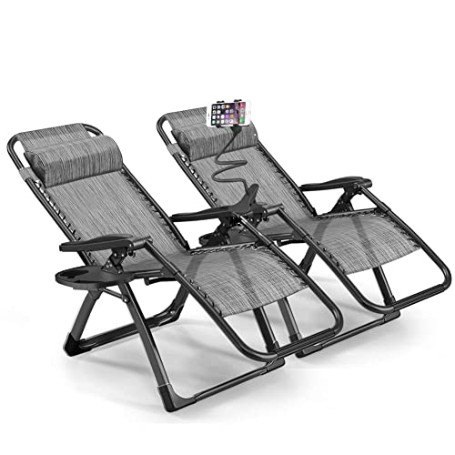 UK Recliner Chair Clip Side Tray Table Drinks Cup Holder Sun Lounger Outdoor