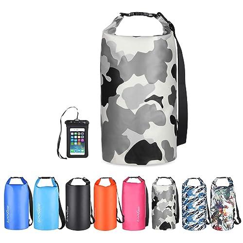 Brigands Waterproof Dry Bag with Waterproof Phone Case 20 Liter Army Green