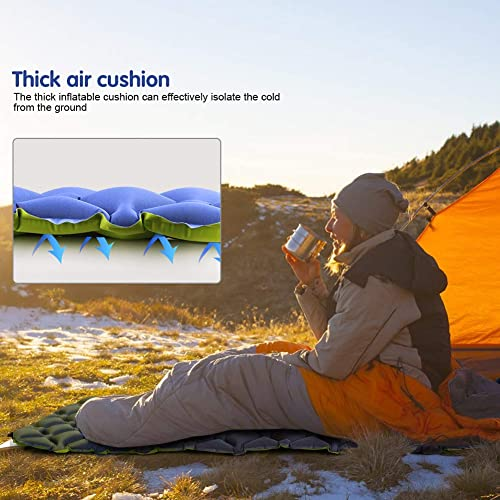 Hiking Durable Waterproof Compact Ultralight Hiking Pad Traveling GIARIDE Camping Sleeping Pad with Built-in Pump Upgraded Inflatable Camping Mat with Pillow for Backpacking