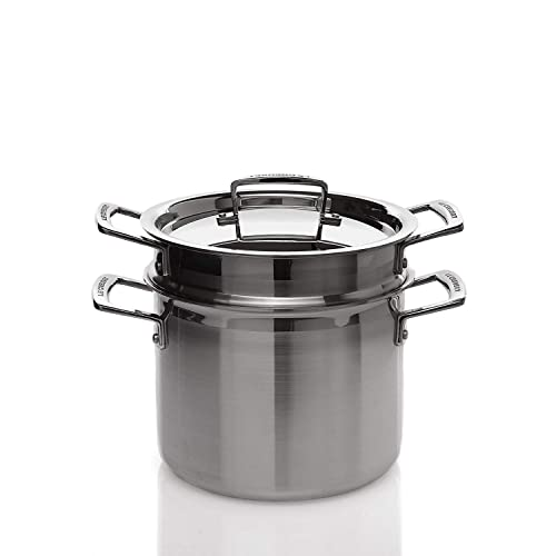 Le Creuset 3-Ply Stainless Steel Saucepan with Lid 16 x 9.5 cm
