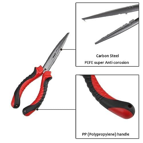 Fishing Pliers Long Nose G1 /& Floating Fish Gripper Needle Split Ring Hook Remov
