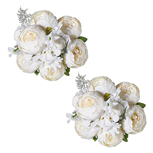 Tifuly Artificial Peony Bouquets Realistic Silk Peonies Vintage Flowers Bouquet For Home Wedding Office Party Decoration Floral Arrangements Centerpieces Pack Of 2 Spring White Buy Products Online With Ubuy Kuwait In Affordable Prices B07yzf9gs8