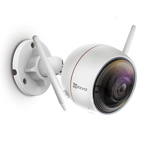 EZVIZ C3W / ezGuard 720p Outdoor Wi-Fi Security Surveillance Camera 98ft  Night Vision Strobe Light and Siren Weatherproof DC Power Dual WiFi(2 4G
