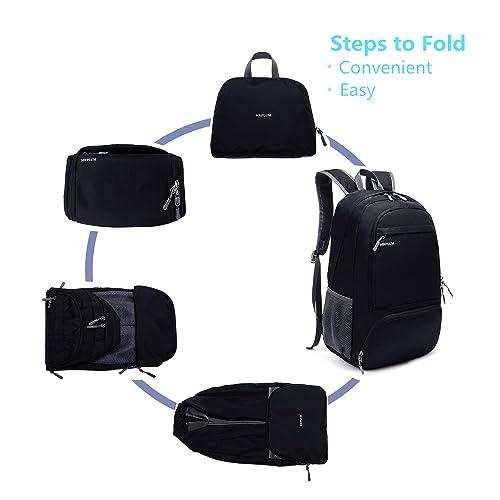 MRPLUM 25L-30L Rucksack Foldable Ultralight Packable Backpack Unisex Durable