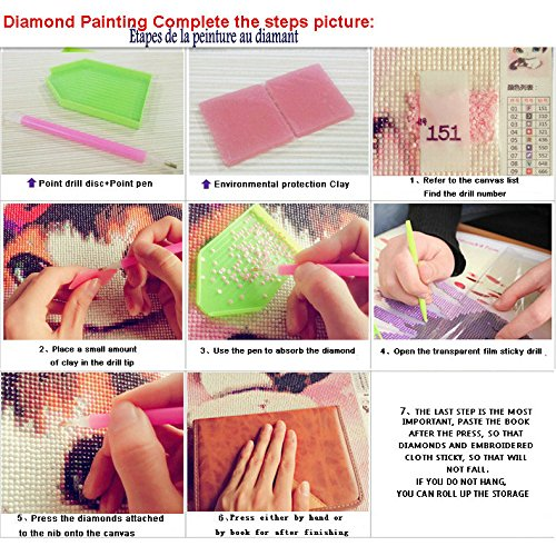 GCOA 96 Pieces Diamond Painting Tools 5D DIY Diamond Painting Accessories Diamond Cross Stitch Kits with 28 Slots Diamond Embroidery Box for Adults or Kids
