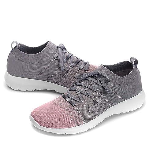 2dc3ea2b3b66f Buy PresaNew Women's Athletic Walking Sneakers Lightweigh Casual ...