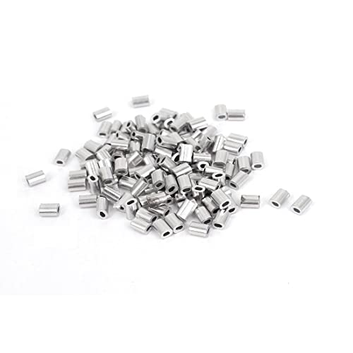 Laureola 1//8 Aluminium Crimping Loop Sleeves Clip Ferrule for Wire Rope Aircraft Cable Pack of 100 pcs
