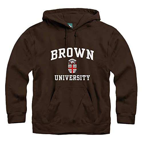 Cotton//Poly Blend NCAA Colleges and Universities Ivysport Hooded Sweatshirt Heritage Logo Grey