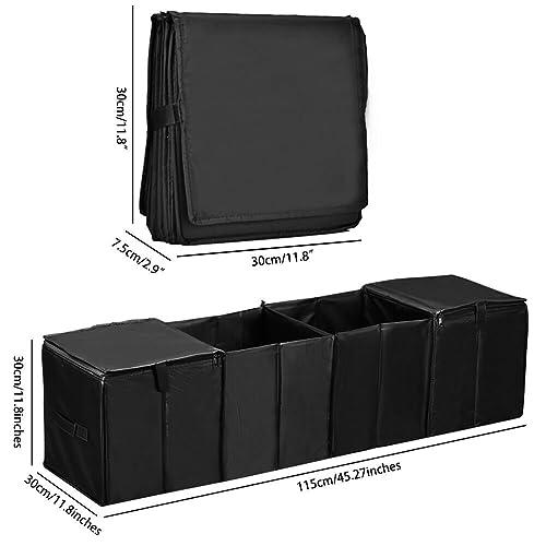 Blue Car Trunk Organizer Multi 4 Compartments Storage Basket and Cooler /& Warmer Set
