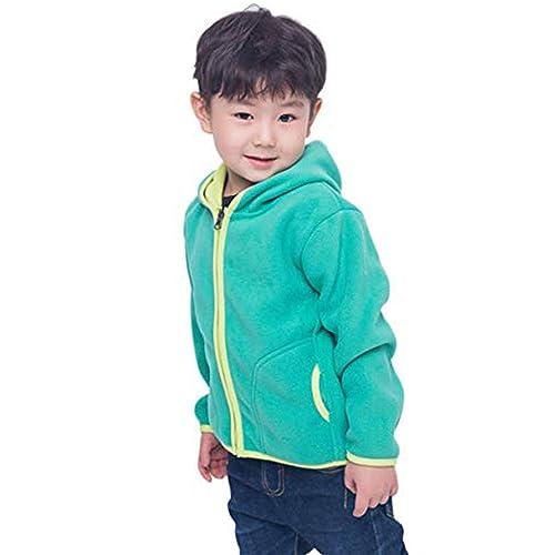 LittleSpring Little Boys Hoodies Zipper Warm Fleece
