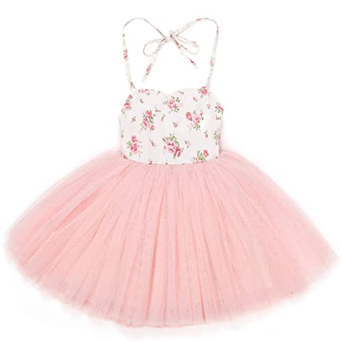 9b494d1ba Buy Flofallzique Special Occasion Girls Dress Pink Tutu Wedding Christening  Birthday Baby Toddler Clothes with Ubuy Kuwait. B073QGTR71