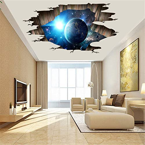 Buy Quaanti 3d Space Wall Stickers Magic Galaxy Floor Wall Decals Removable Mural Decorations For Kids Bedroom Ceiling Living Room Nursery Home Decor D Online In Kuwait B07mphdst2