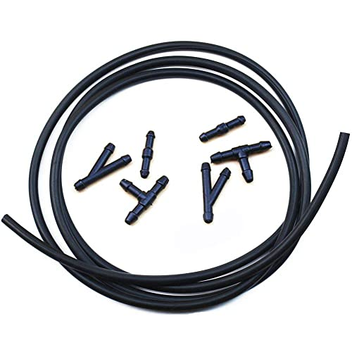 UTSAUTO Windshield Washer Hose Kit 200CM /& Windshield Washer Nozzles with Connector for Most Cars 6.5ft