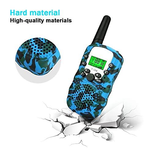 Green BIBOYELF Toys Walkie Talkies for Kids,Fun Toys for 4-5 Year Old Boys Best Gifts for Kids Built in Flash Light Kids Toys for 6-10 Year Old Travel Hunting,HK-688 1 Pair