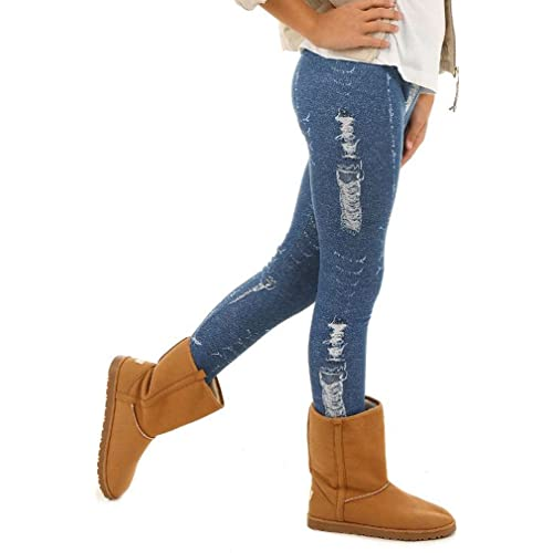 Girls Warm Thick Winter Leggings Autumn Thermal 6-13 Years