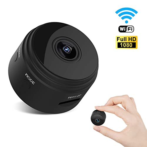 Mini Spy Camera Wireless Hidden Camera WiFi HD 1080P Small Nanny Cam Home  Security Motion Detection Night Vision Remote View with Cell Phone App