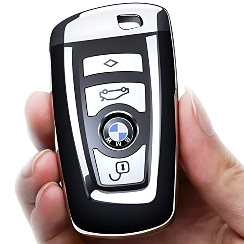only Keyless Go - Black Matte Hard Shell Keyless Entry Remote Fob Case for BMW 3 Button Remote Control Car Key kwmobile Car Key Cover for BMW