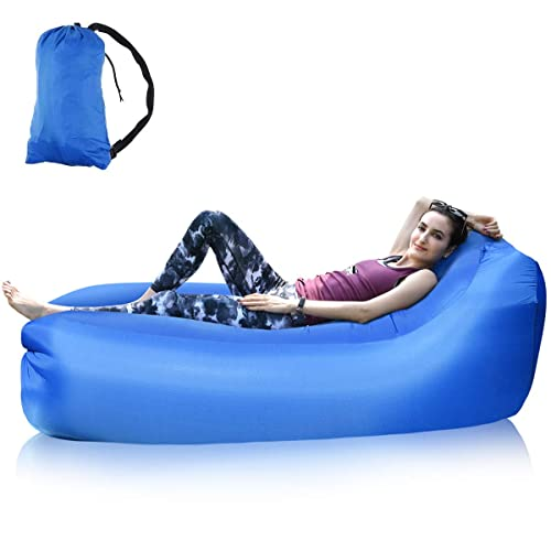 Inflatable Waterproof Air Sofa Carrying Bag Ocean 5 Air Lounger Festivals Lounge Bag with Integrated Pillow incl Camping Outdoor Sofa for Park