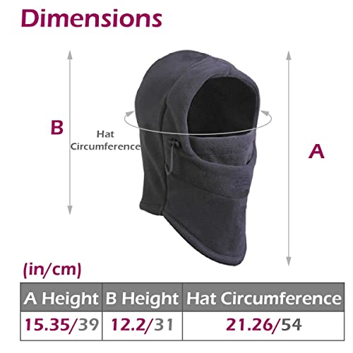 Windproof Full Face Cover Helmet Liner Soft Neck Gaitrer for Cycling Motorcycling 3 Pack Running Black Breathable UV Protection Face Sun Mask Hat MoKo Balaclava Face Mask for Men Women,
