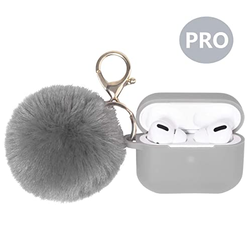 Ownest Compatible with AirPods Case Soft Silicone with Cute Keychain Shockproof Cover Case for Girls Woman Airpods 2 /&1-Purple