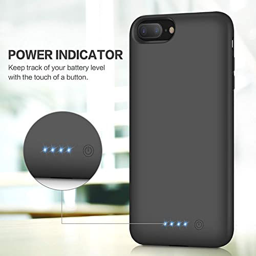 Red VOOE Battery Case for iPhone 7 Plus// 8 Plus 8500mAh Portable Battery Smart Pack Rechargeable Protective Battery Case for iPhone 7 Plus// 8 Plus External Charger Cover 5.5 inch Charging Case