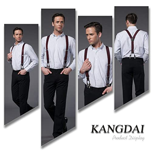Man Braces Fashion Adjustable and High Quality KANGDAI 6 Clips with Y Back Durab