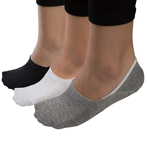 3 6 Pairs Ladies Trainer Ankle Invisible Socks Sports Gym Cotton White Black