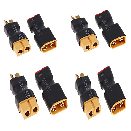 2 Pairs No Wires Connector XT60 XT-60 to T-Plug Deans Style Male Female Connector Adapter 4pcs