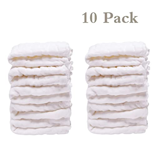"""Baby Washcloths Organic Baby Face Towels Cotton Baby Wipes Reusable Muslin Washcloth for Sensitive Skin Baby Registry As Shower Gifts for Baby 10/""""/×10/""""5Colors Extra Soft Newborn Bath Washcloths"""
