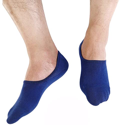 3//6 Pairs Men/'s Invisible No Show Nonslip Loafer Boat Ankle Low Cut Cotton Socks