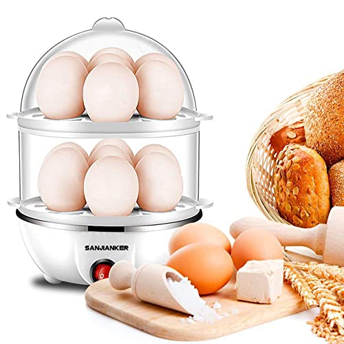 Microwave Egg Cooker Office Worker White Egg Microwave Boiler Only 8 Minutes for Hard or Soft Boiled 4 Eggs No Piercing Required Dishwasher Safe,Suitable for Home Kitchen Breakfast tool Child