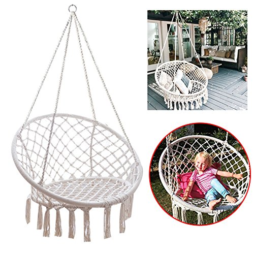 Feiuruhf Macrame Hammock Chair By 260 Pounds Capacity Portable Hammock Cotton Rope Woven Handmade Knitted Hanging Swing Chair Hammock Chair Buy Products Online With Ubuy Kuwait In Affordable Prices B07brptfhs