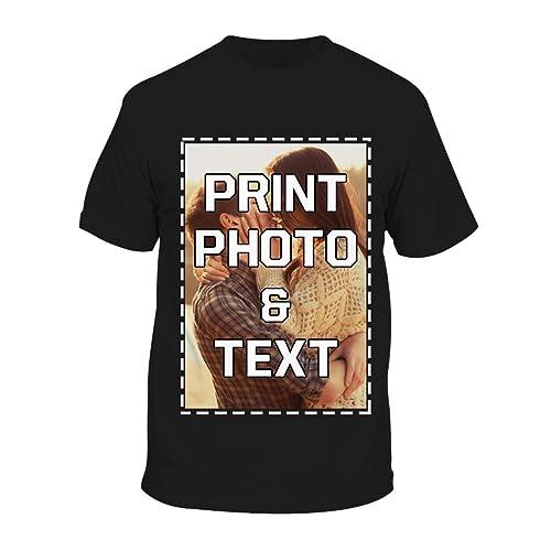 1a923fe98e93b Buy Custom T-Shirts Add Your Own Image Text Logo Design Unisex ...