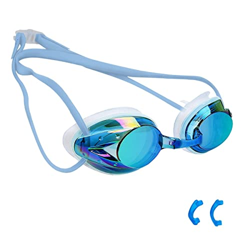 Transparent Flexible Protective Goggles Swim Goggles for Men Women Adults with Protective Case Bezzee-Pro Swimming Goggles Clear Goggle with UV Protected Adjustable Silicone Straps