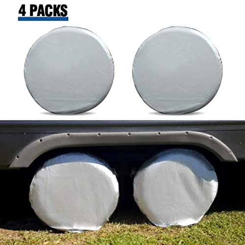 Leader Accessories 1pc 29-31.75 Diameter RV Tire//Wheel Cover Fits Camper Car Trailer Truck Wheel from Side to Side