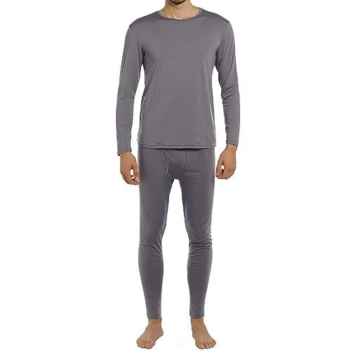 MANCYFIT Thermal Underwear for Men Long Johns Set Fleece Lined Winter Base Layer 2 Pack